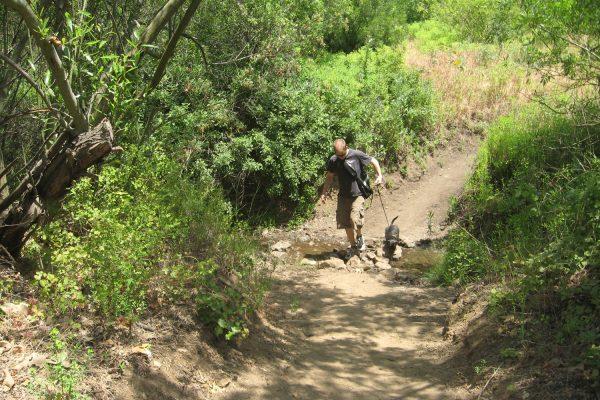 Escondido Canyon Trail hiker