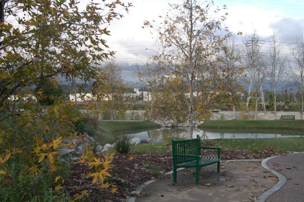 Lewis MacAdams Riverfront Park infiltrating stormwater