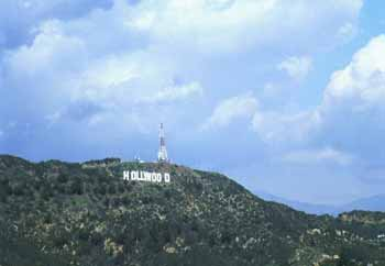Hollywood Sign from Jerome C. Daniel Overlook above the Hollywood Bowl