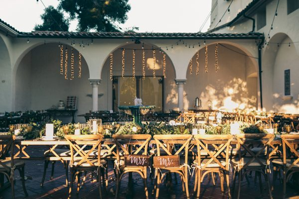 Reception in the fountain courtyard. Photo by