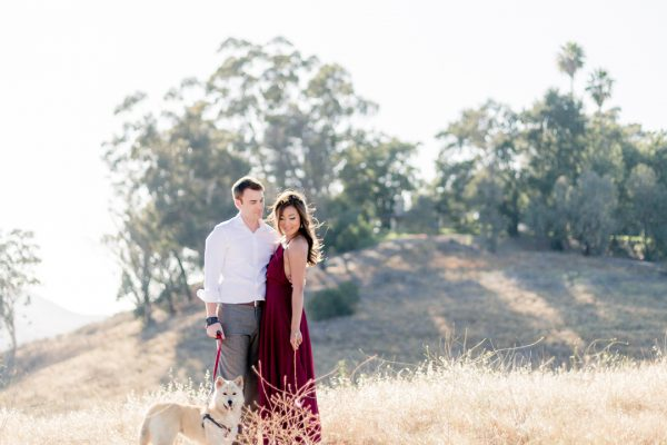 Engagement photos in the meadows of ULV. Photo by Jessica Mangia Photography