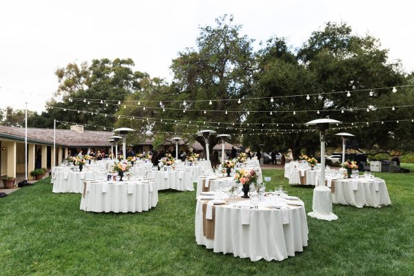 Reception in the front garden. (c) Porterhouse LA