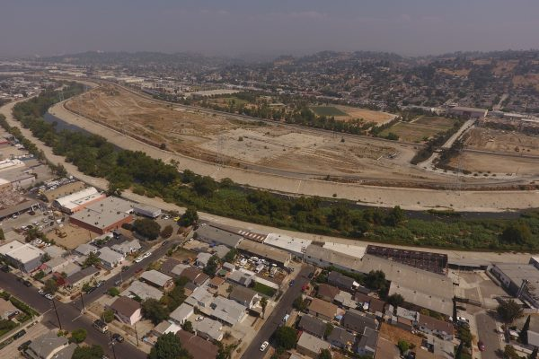 Photograph of Paseo del Río project site.